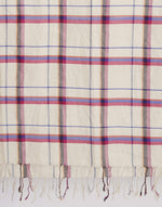 Bellerose white and pink checked scarf for women