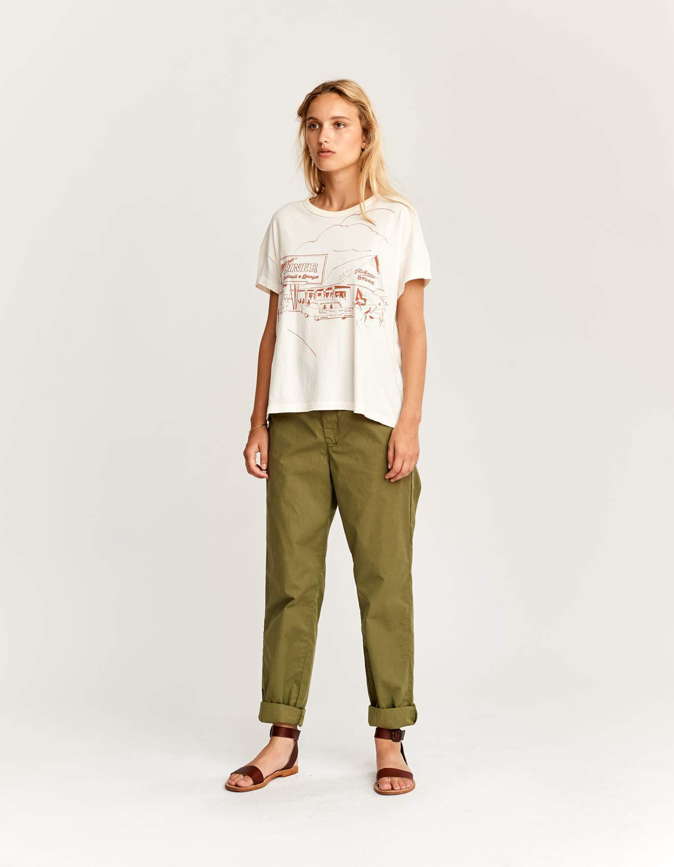 Bellerose loose white cotton t-shirt for women