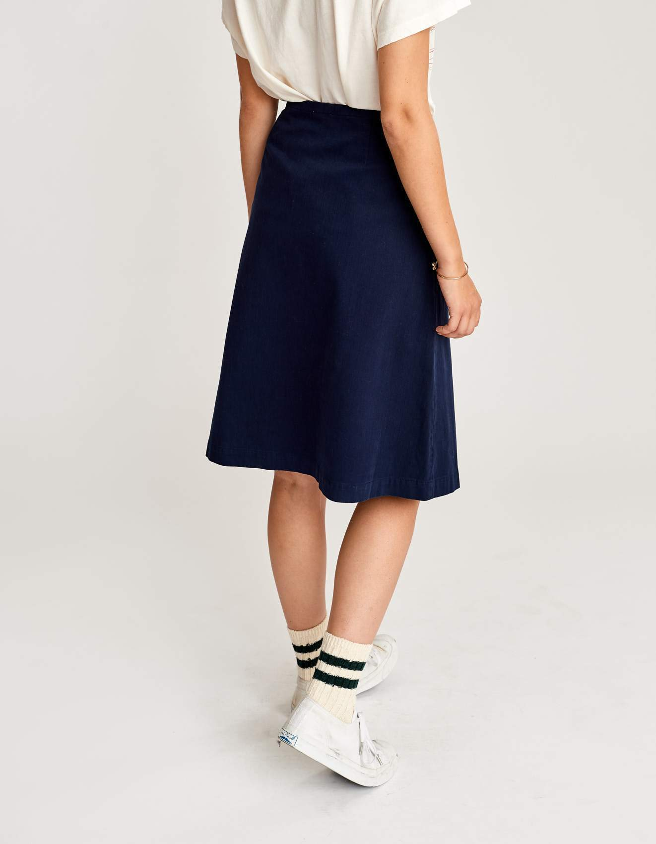 Bellerose A line blue skirt for women