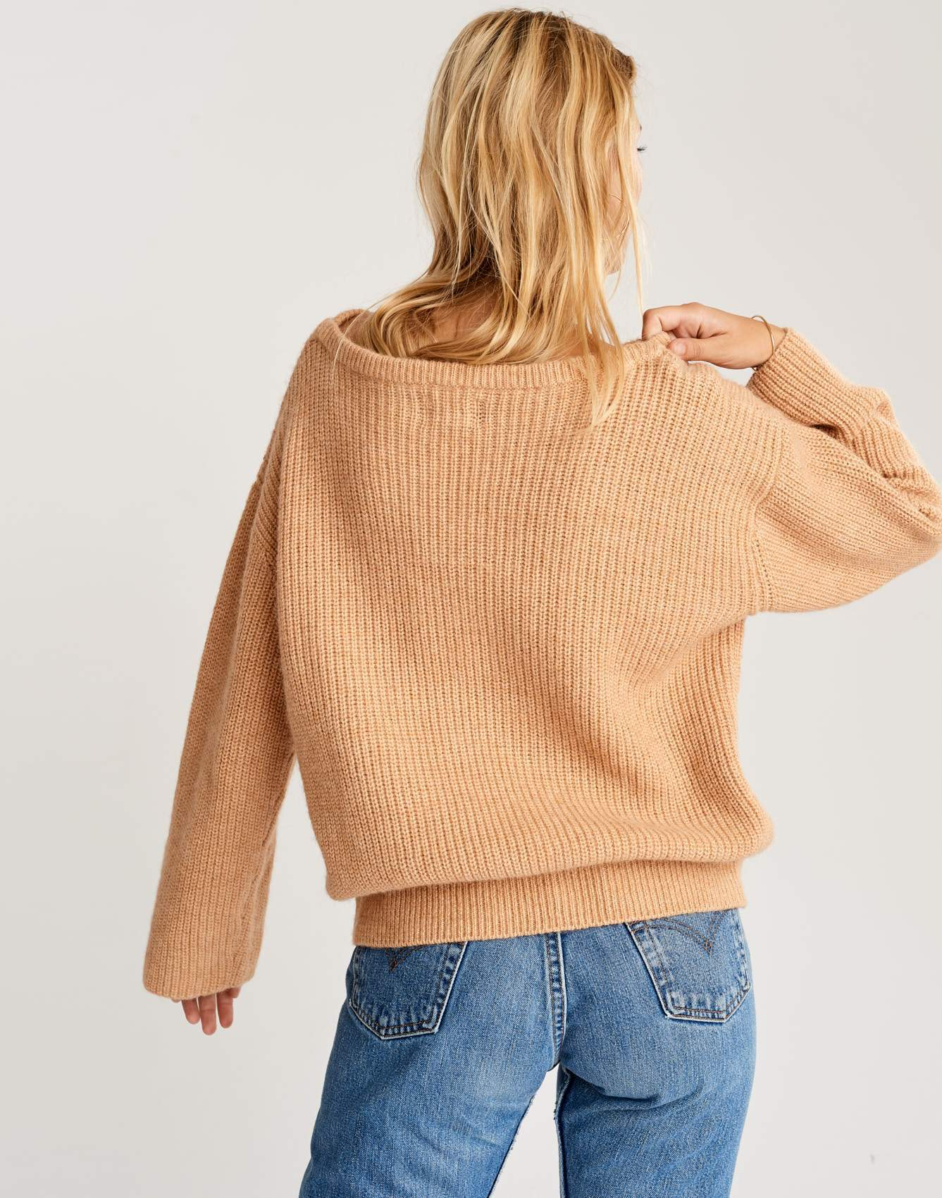 Bellerose oversized beige knit sweater for women