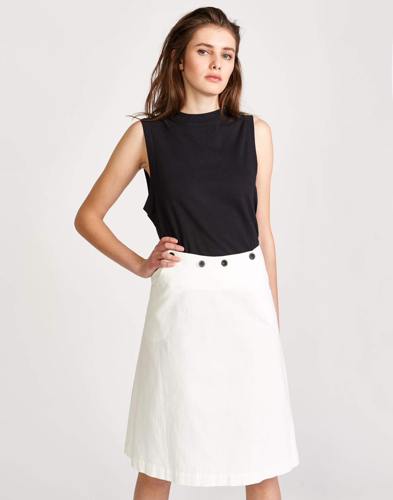 Bellerose A line white skirt for women