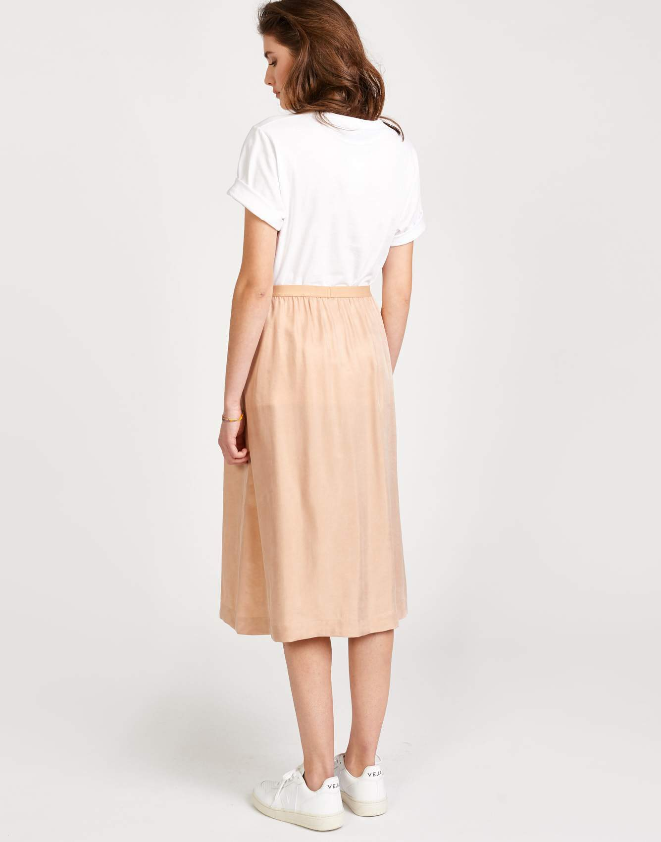 Bellerose beige viscose flared skirt for women