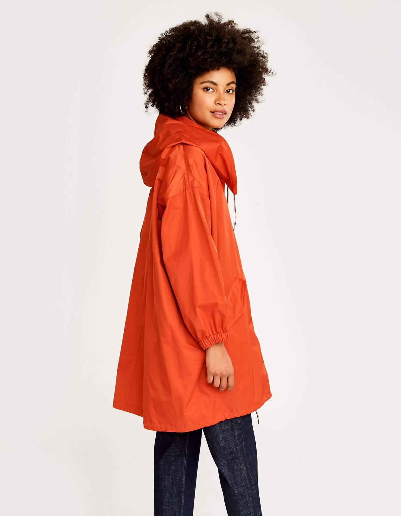 Bellerose red military inspired parka for women