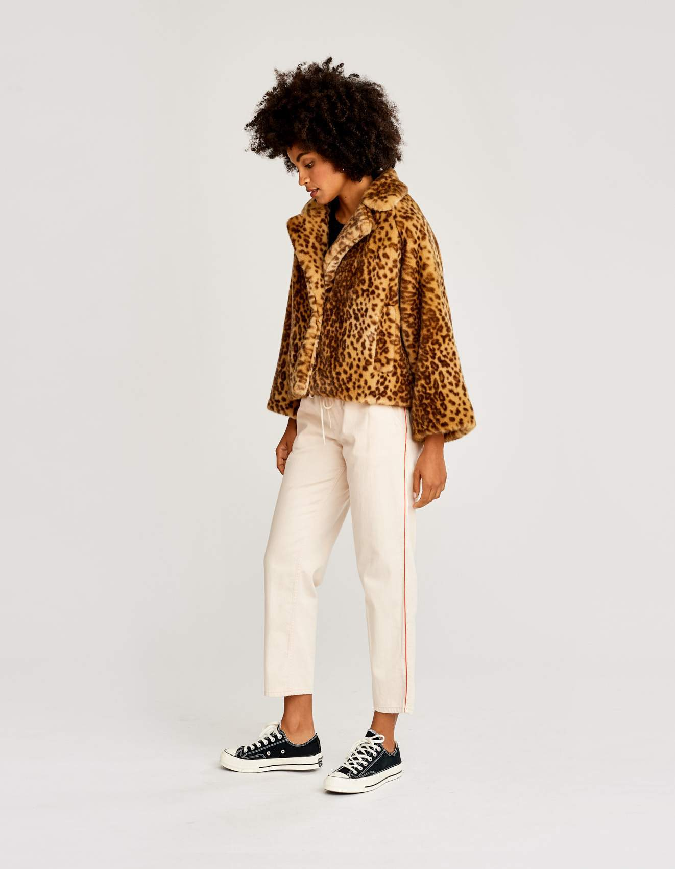 Bellerose faux fur boxy fit jacket for women