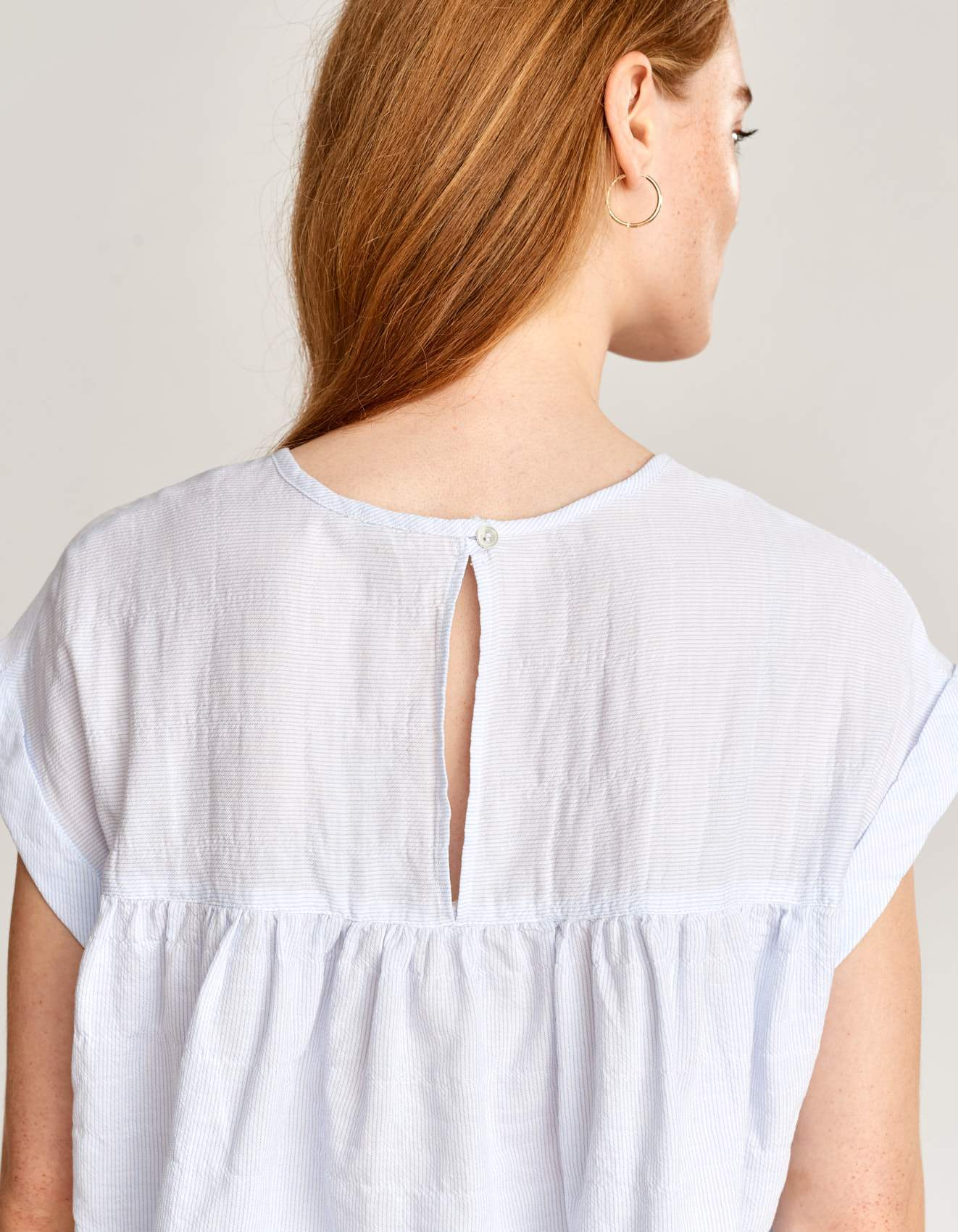 Bellerose cap sleeve striped blouse for women