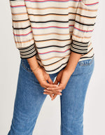 Bellerose striped blouse with fancy rib for women