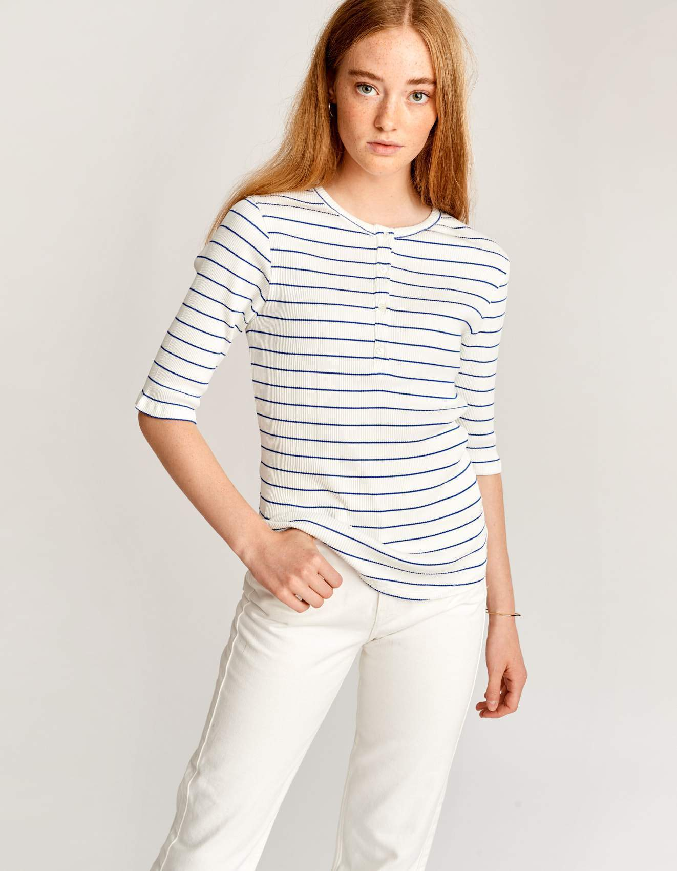 Bellerose slim fit cotton t-shirt for women