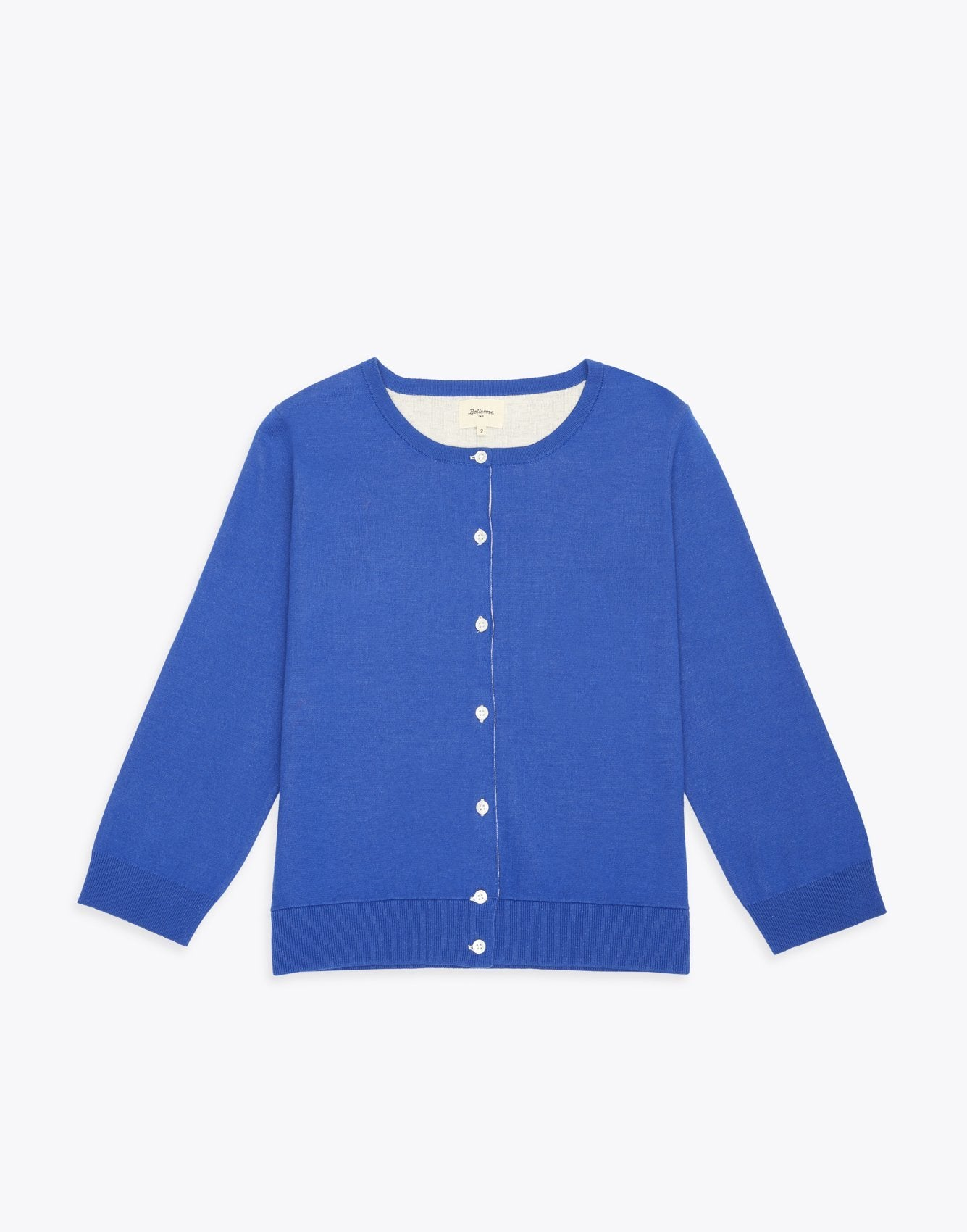 Bellerose blue knitted cotton cardigan for women