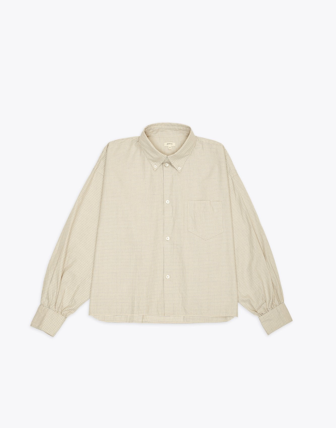 Bellerose cropped checked shirt for women