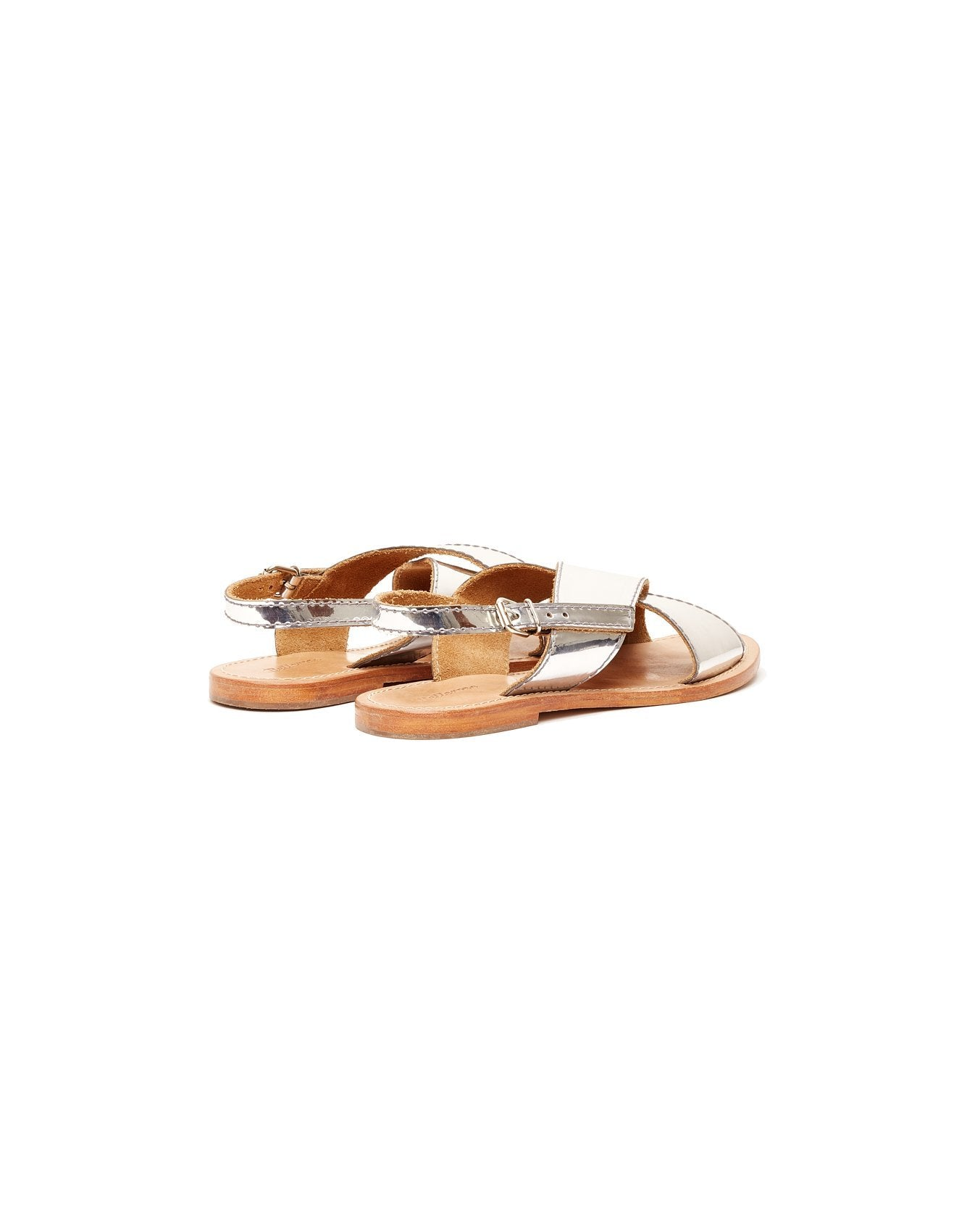 Bellerose silver patent leather sandals