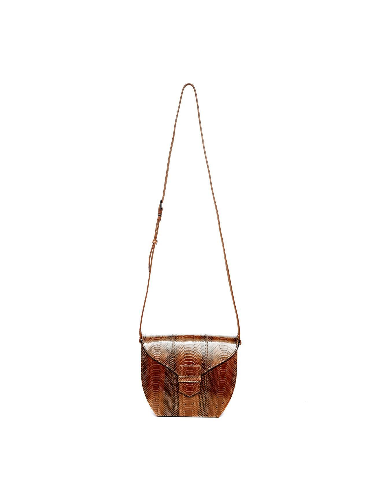 Anthology brown leather hand bag for women on Bellerose official webshop
