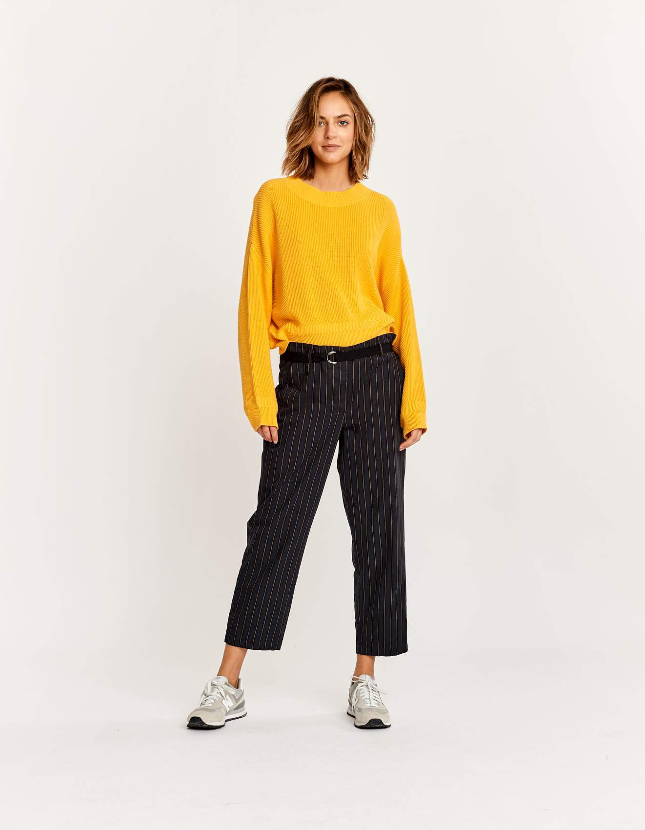 Bellerose striped straight leg pants for women
