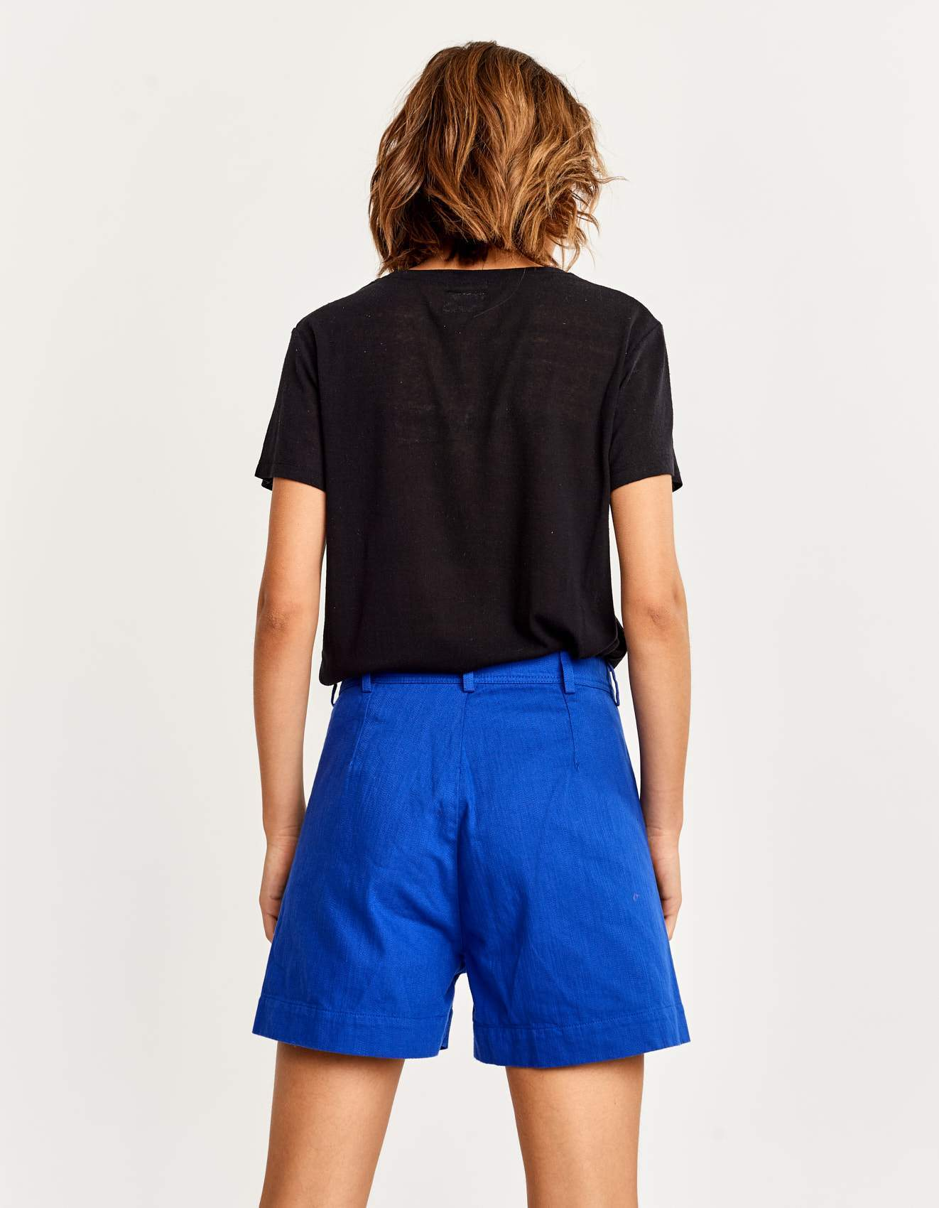 Bellerose blue high-waisted shorts for women