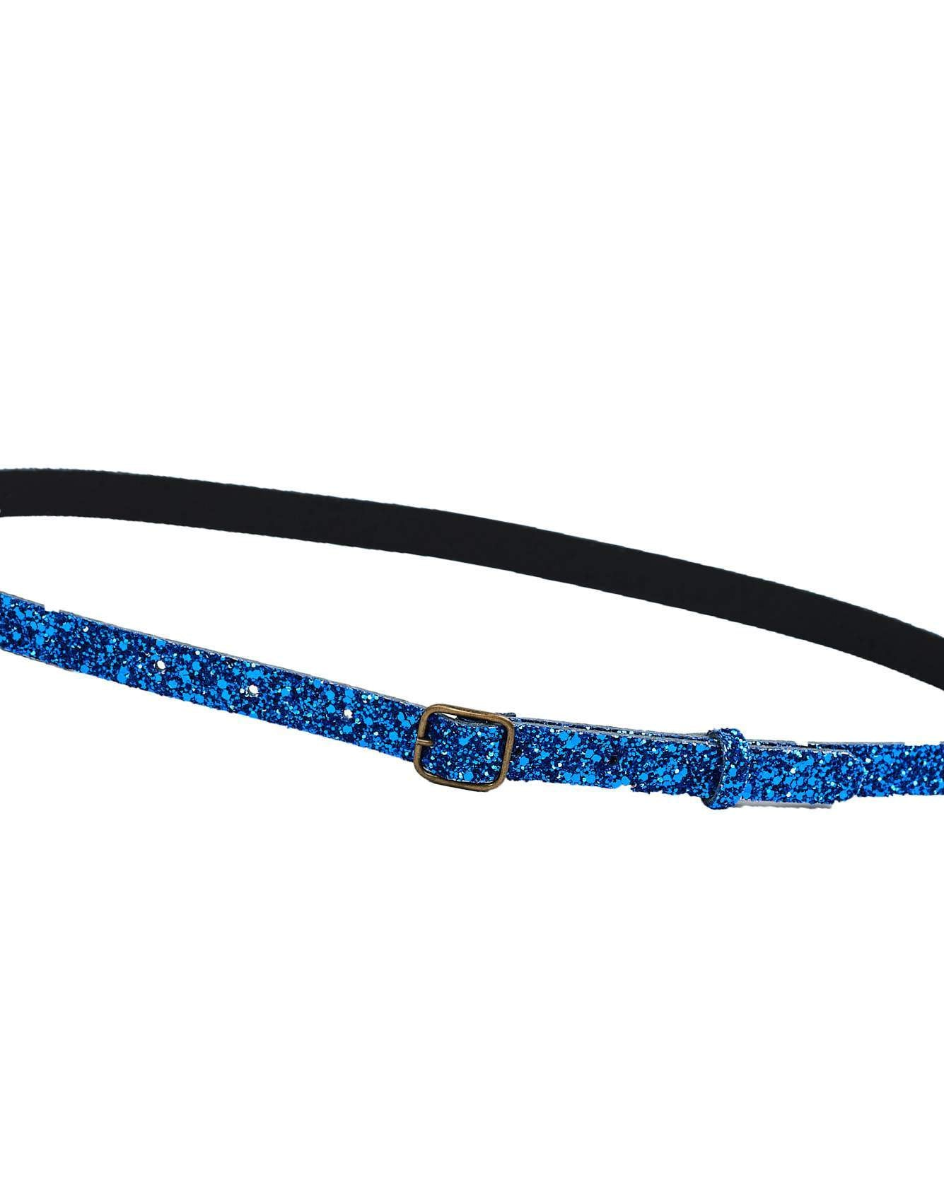 Bellerose blue glitter leather belt