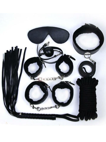 7 Piece Plush Bondage Set - Passionzone adult store - 2