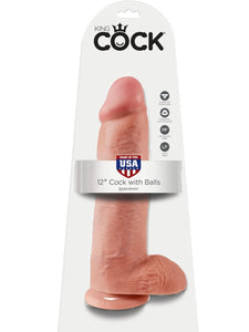 King Cock 12 inch cock with balls -  - Passionzone Adult Store - 1