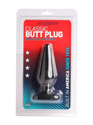 classic butt plug medium black