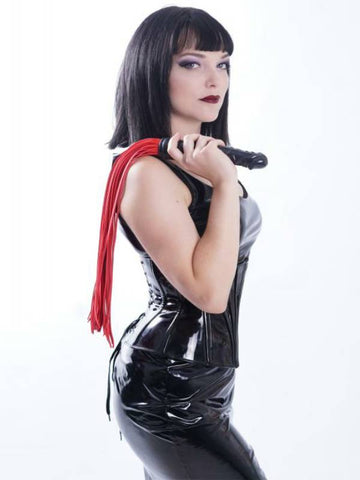 Image of black diamond dildo handle flogger fetish fun