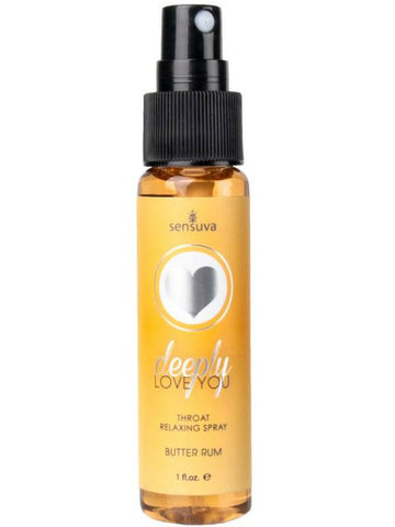 deeply love you throat relaxing spray butter rum