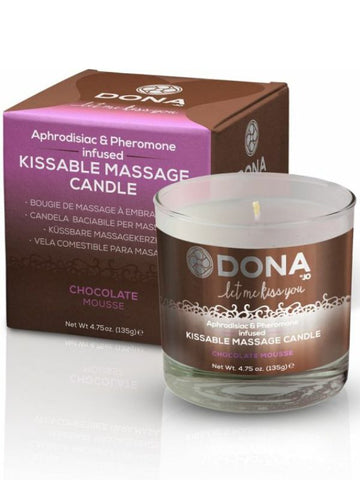 Image of dona massage candle choc mousse