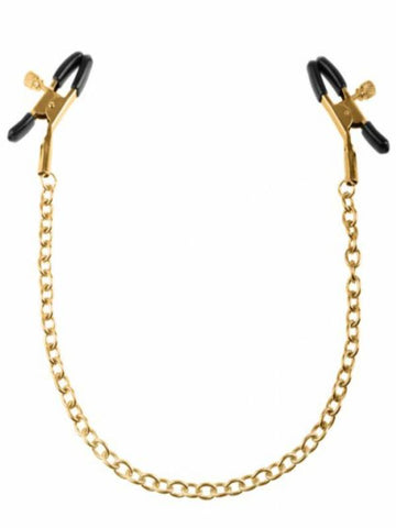 Image of fetish fantasy gold nipple clamps product