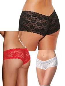 low rise lace booty shorts all colours available