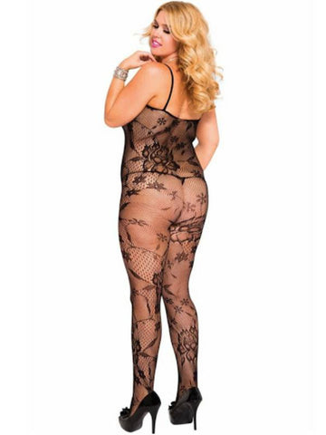 Image of music legs body stocking 1444q back view