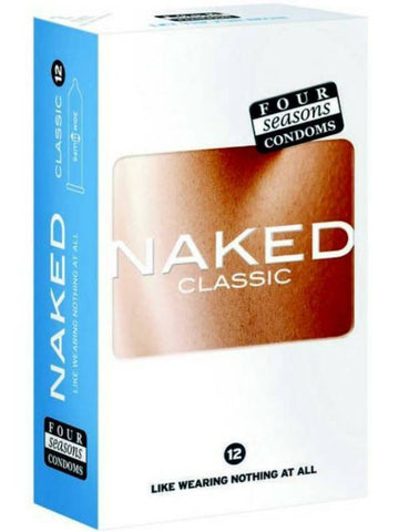 naked classics condoms 12 pack packaging