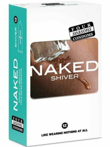 naked shiver condoms 12 pack packaging