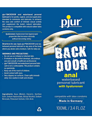Image of Pjur backdoor water anal lube information