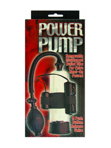 Image of power pump vibrating penis pump