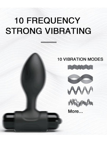pretty love vibra butt plug 10 functions