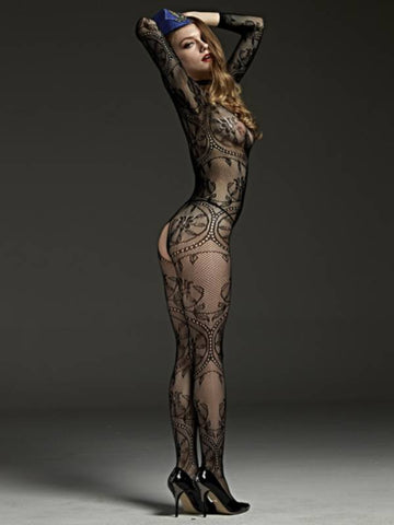 Image of rimes body stocking 606a back