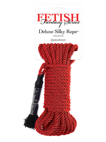 Image of red bondage rope