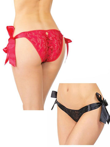 Image of shauna tie up panty both colours available