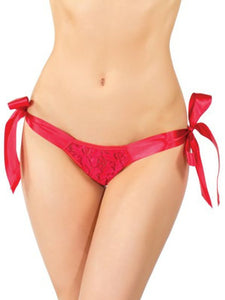 shauna tie up panty o/s red front