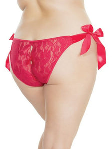 shauna tie up panty o/s x/l red back