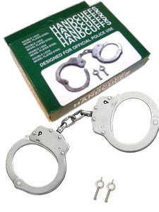 Nickel plated double lock steel handcuffs -  - Passionzone Adult Store - 1