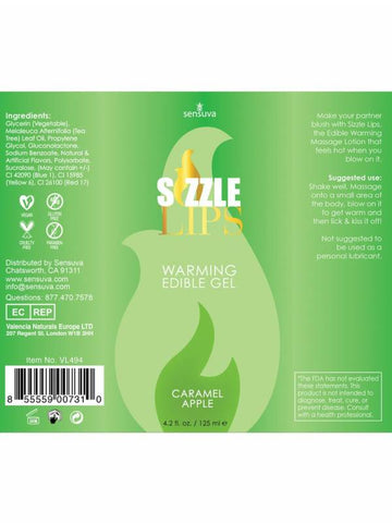 Image of sizzle lips label back