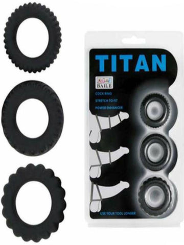 Image of titan 3 cockring set by pretty love