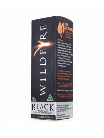 Image of wildfire black massage oil 50ml