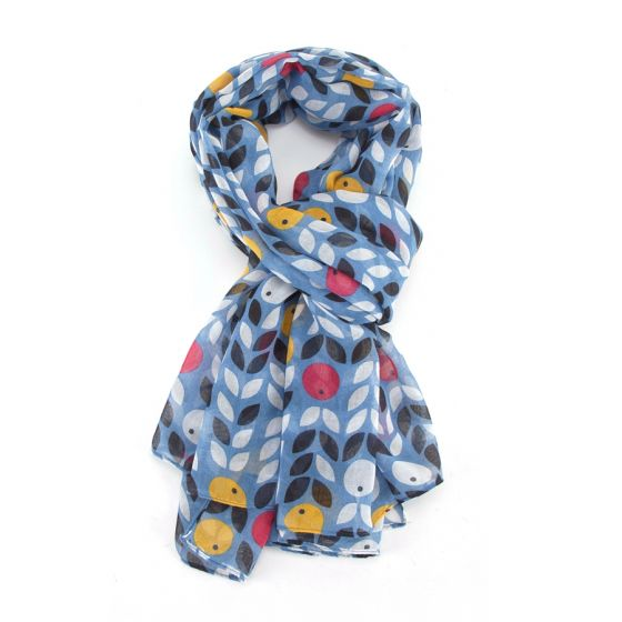 Denim, Berry Print Scarf