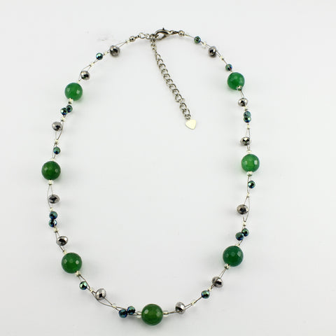 SWN0013 - EMMA - Green Agate Stone Necklace