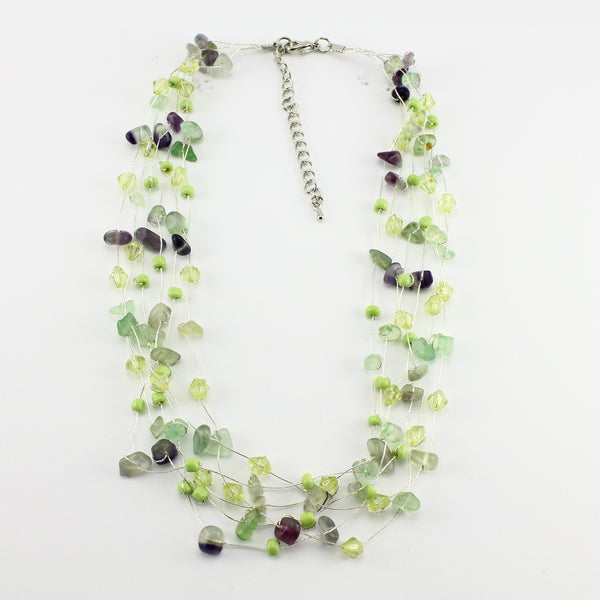 SWN0060FL - MIA - Fluorite Gemstone Necklace