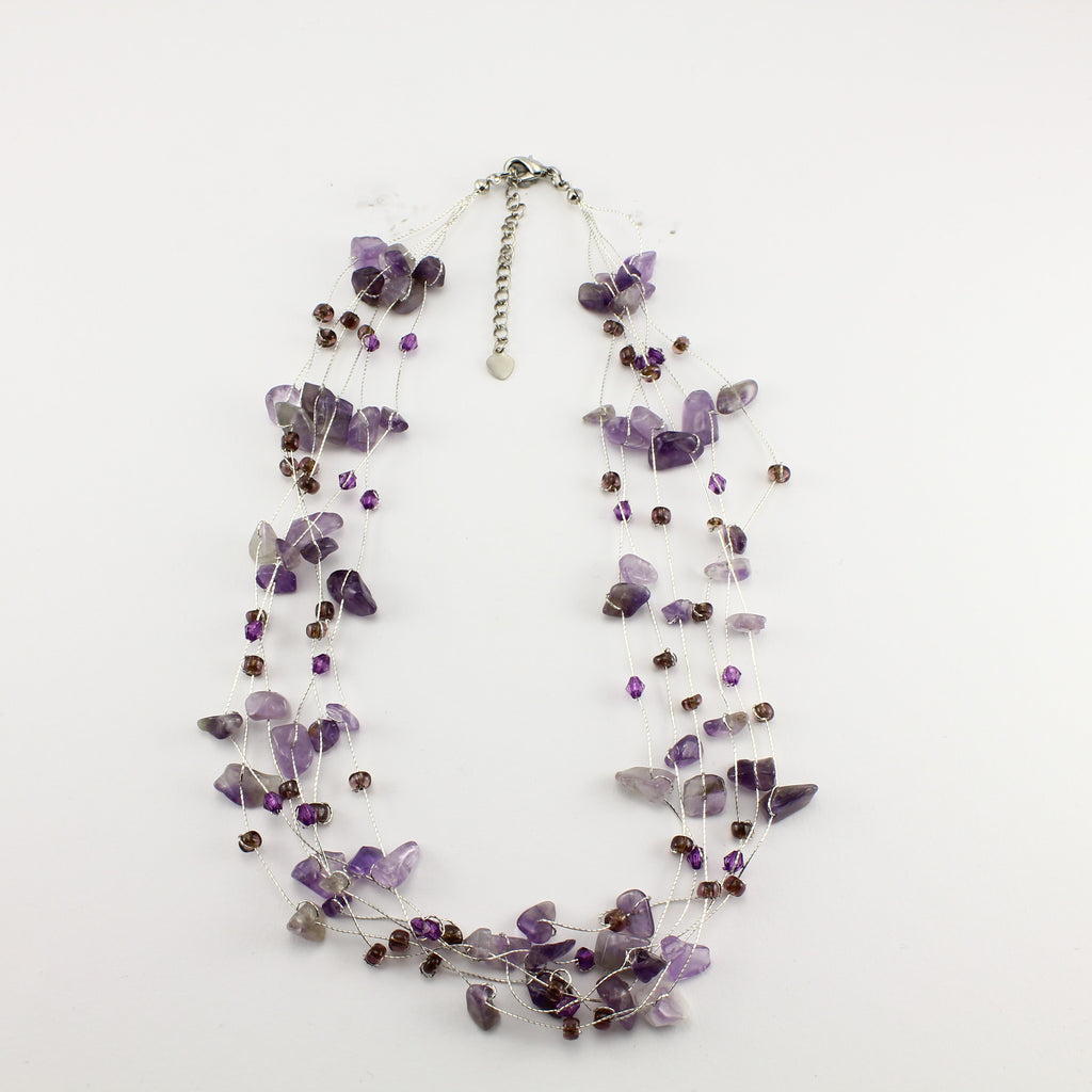 SWN0060AM - MIA - Amethyst Gemstone Necklace