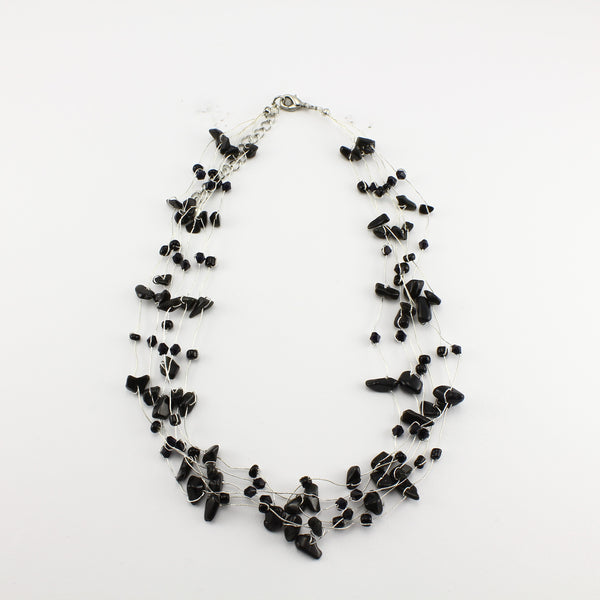 SWN0060ON - MIA -Black Onyx Gemstone Necklace