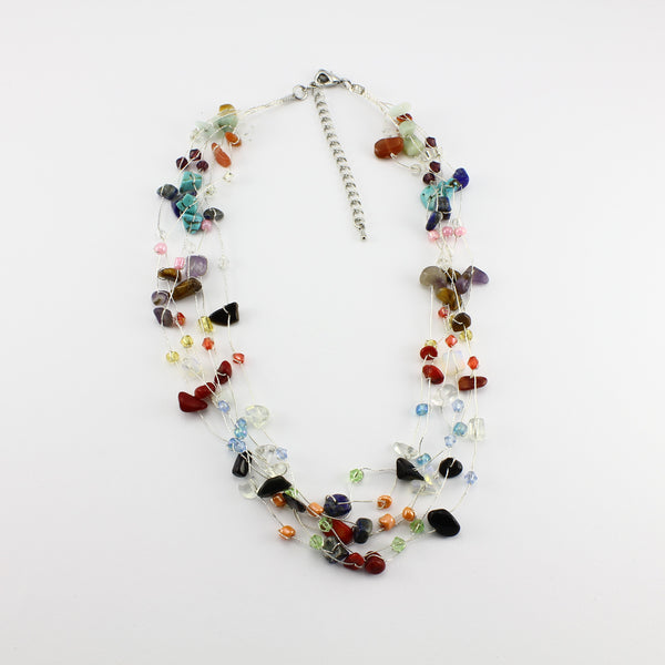 SWN0060MU - MIA - Multi Gemstone Necklace