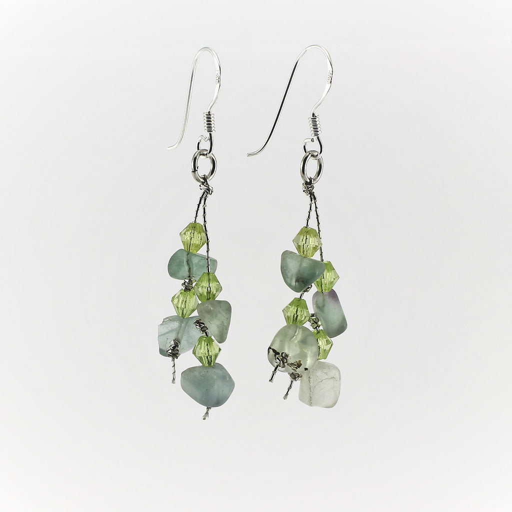 SWE0060FL - MIA - Fluorite Gemstone Drop Earrings