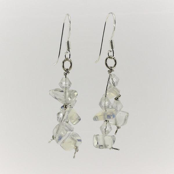 SWE0060MO - MIA -  Moonstone Gemstone Drop Earrings