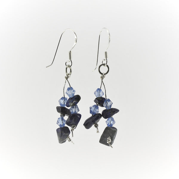 SWE0060LA - MIA - Lapis Lazuli Gemstone Drop Earrings